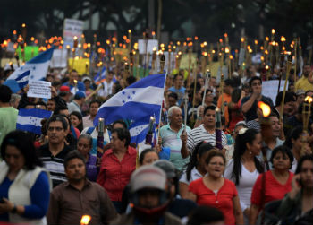 Anti-corruption protest in Honduras