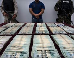 US currency seized by Mexican authorities