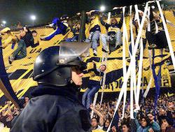 Boca Juniors fans in Buenos Aires