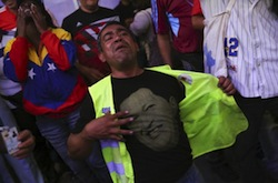 PSUV supporter dismayed at election results