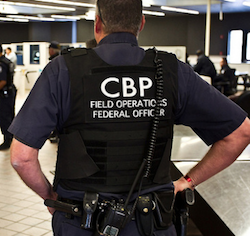 A US Customs and Border Protection officer