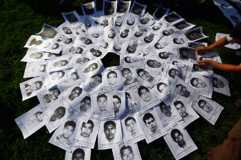 Pictures of the 43 missing students