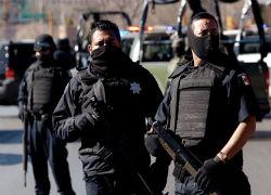 Police officers in Tijuana