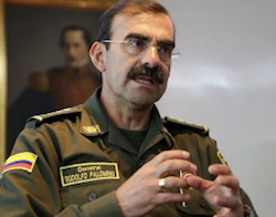 Former Colombian National Police Director Rodolfo Palomino