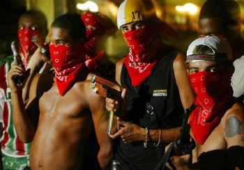 Gang members in Brazil
