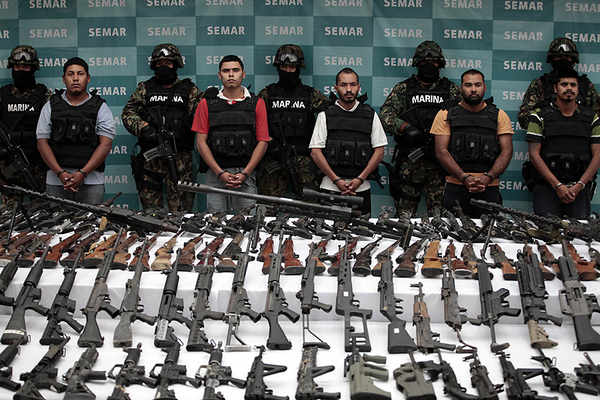 Firearms confiscated in Mexico