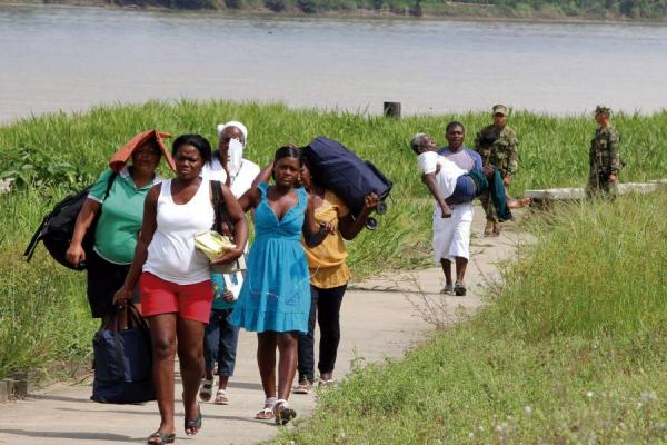 Over 200 people have been displaced from south west Colombia in recent weeks