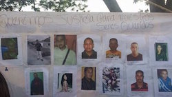Family members posted photos of the disappeared miners