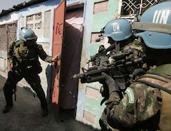 UN peacekeeping forces in Haiti