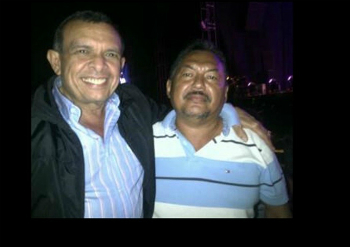 Porfirio Lobo with 'Chepe' Luna