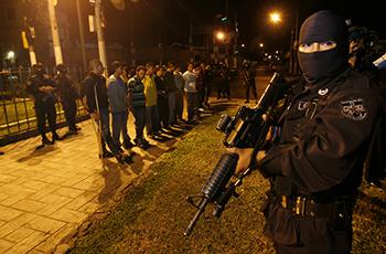 Police roundup in Ciudad Delgado