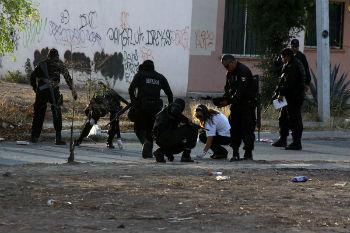 A crime scene in Mexico's Pacific state of Sinaloa