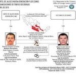 US Treasury diagram of links between Los Cuinis and CJNG
