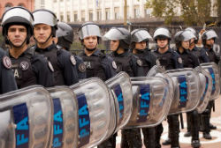 Police officers in Argentina