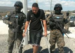 Arrested mayor of Talanga Jorge Neftalí Romero Mejía