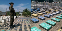 Colombian police seized eight tons of cocaine on the Caribbean coast