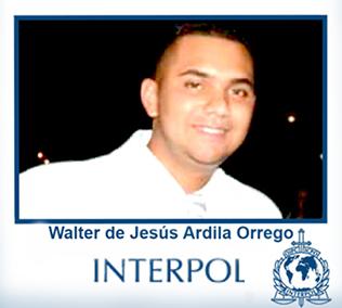 Arrested Interpol agent Walter de Jesús Ardila