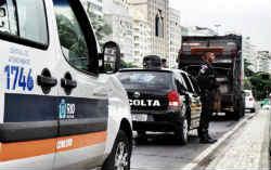 A private security guard in Brazil
