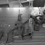Arms and ammunition seized by Trinidad  and Tobago officials