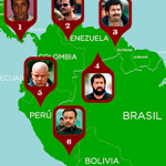 Map of Colombia's drug trafficking diaspora