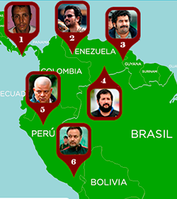 Map of Colombia's drug trafficking diaspora