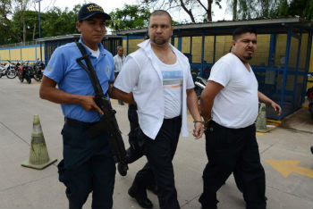 Alleged members of the smuggling ring arrested in Honduras