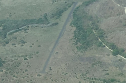 An illegal airstrip in Costa Rica used by drug traffickers