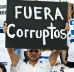 Anti-corruption protesters in El Salvador
