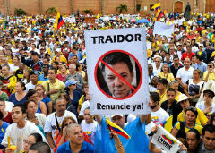 Many Colombians oppose peace with the FARC
