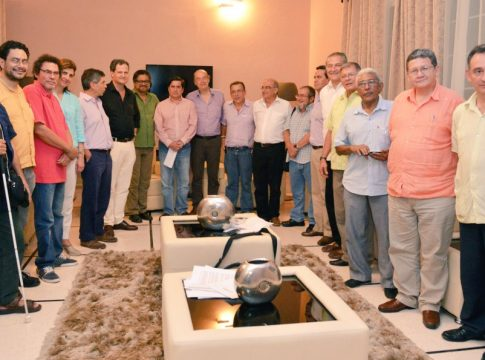 The FARC peace process negotiators in Havana, Cuba