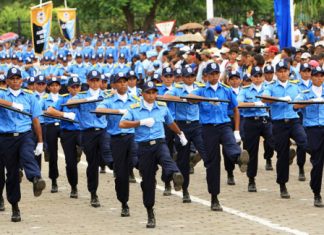 Police officers in Nicaragua
