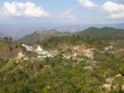 A view of the rural Valladolid municipality in Honduras.