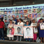 Family members of the disappeared students