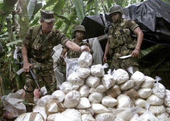 A seized cocaine shipment in Colombia