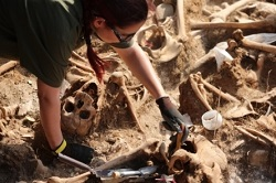 The mass graves were discovered by a group of victims' relatives