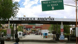 The border crossing into La Quiaca, Argentina