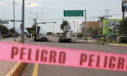 Scene of the recent ambush in Culiacán