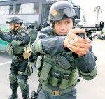 Members of Peru's National Police