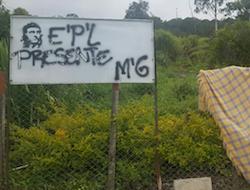 EPL graffiti in Catatumbo
