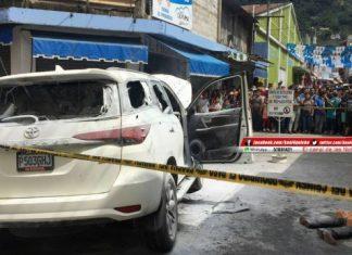 The scene of the crime in La Mesilla, Huehuetenango