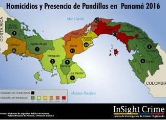 Map of gang presence and homicides in Panama