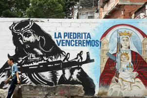 A mural of the armed colectivo