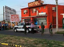 """""""Motel Alfer,"""" scene of the recent attack in Chihuahua, Mexico"""
