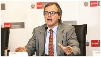 Interior Minister Carlos Basombrío
