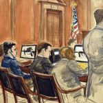 A depiction of the convicted nephews during trial