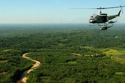 Aerial surveillance along the Bolivia-Brazil border
