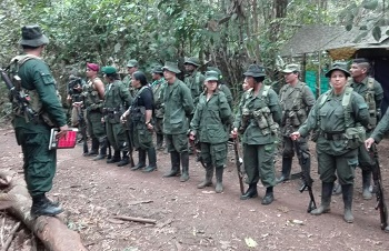 FARC members at the guerrillas' 10th conference in September 2016