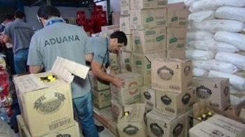 A contraband shipment intercepted by Paraguay's customs