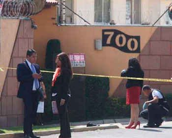 Scene of murder of federal judge in Mexico