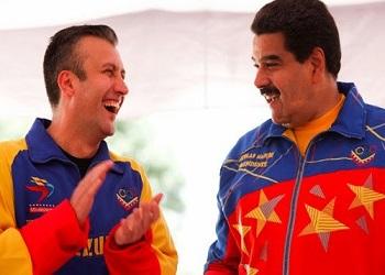 Venezuela's President Nicolas Maduro and Vice President Tareck El Aissami